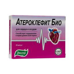 Атероклефит БИО, 250 мг, капсулы, 30 шт.