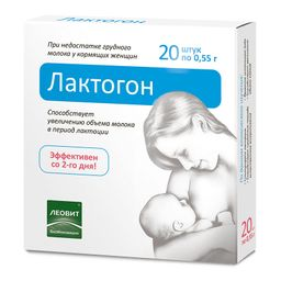 Лактогон, 0.55 г, таблетки, 20 шт.