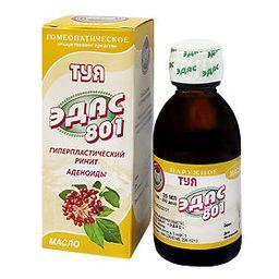 Эдас-801 Туя, масло для наружного применения, 25 мл, 1 шт.
