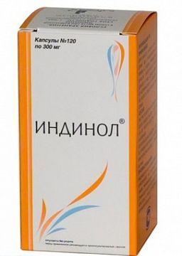 Индинол, 300 мг, капсулы, 120 шт.