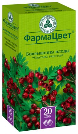 Боярышника плоды, сырье растительное-порошок, 3 г, 20 шт.