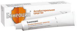 Банеоцин, 250 МЕ/г+5000 МЕ/г, мазь для наружного применения, 20 г, 1 шт.