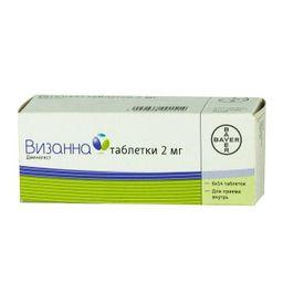 Визанна, 2 мг, таблетки, 84 шт.