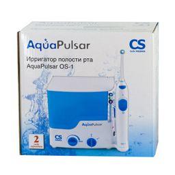 AquaPulsar Ирригатор для полости рта CS Medica OS-1, 2 режима работы, 4 насадки, 500 мл, 1 шт.