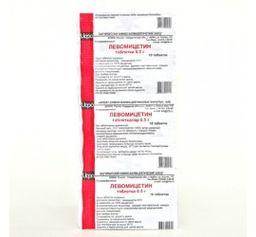Левомицетин, 500 мг, таблетки, 10 шт.