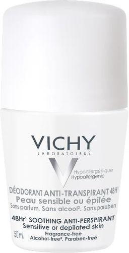 Vichy Deodorants дезодорант для чувствительной кожи 48 ч, део-ролик, 50 мл, 1 шт.