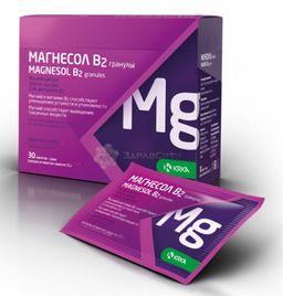 Магнесол В2, 7 г, гранулы для приготовления раствора для приема внутрь, 30 шт.