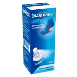 Ламизил, 1%, спрей для наружного применения, 30 мл, 1 шт.