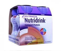 Nutridrink compact protein, жидкость для приема внутрь, со вкусом персик-манго, 125 мл, 4 шт.