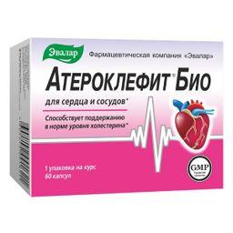 Атероклефит БИО, 250 мг, капсулы, 60 шт.