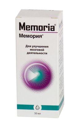 Мемория, капли для приема внутрь гомеопатические, 50 мл, 1 шт.
