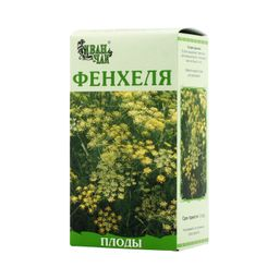 Фенхеля обыкновенного плоды, сырье растительное измельченное, 50 г, 1 шт.