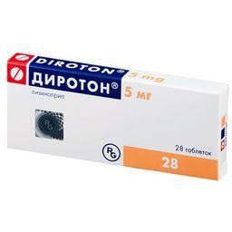 Диротон, 5 мг, таблетки, 28 шт.