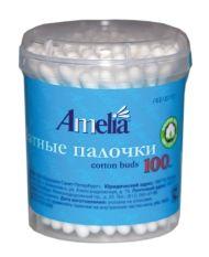 Ватные палочки Амелия, 100 шт.