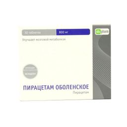 Пирацетам Оболенское, 800 мг, таблетки, покрытые оболочкой, 30 шт.