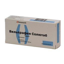 Вильпрафен солютаб, 1000 мг, таблетки диспергируемые, 10 шт.