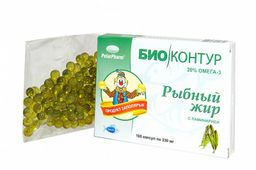 Биоконтур Рыбный жир с ламинарией, 330 мг, капсулы, 100 шт.