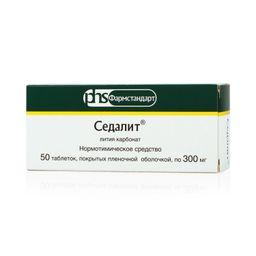 Седалит, 300 мг, таблетки, покрытые оболочкой, 50 шт.