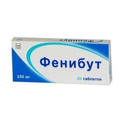 Фенибут, 250 мг, таблетки, 20 шт.