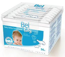 Bel Baby Ватные палочки детские безопасные, с ограничителем, 56 шт.