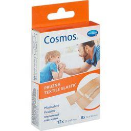 Cosmos Textile Elastic Пластырь, 2размера, пластырь медицинский, текстильный эластичный, 20 шт.