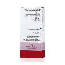 Тардиферон, 80 мг, таблетки пролонгированного действия, покрытые оболочкой, 30 шт.