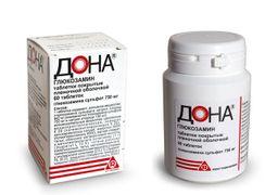 Дона, 750 мг, таблетки, покрытые пленочной оболочкой, 60 шт.