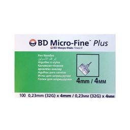 Игла для шприц-ручек Micro-Fine Plus, 32G(0.23x4)мм, 100 шт.