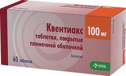 Квентиакс, 100 мг, таблетки, покрытые пленочной оболочкой, 60 шт.