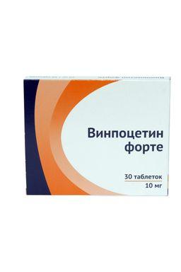 Винпоцетин форте, 10 мг, таблетки, 30 шт.