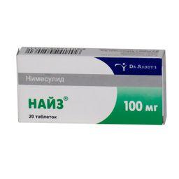 Найз, 100 мг, таблетки, 20 шт.