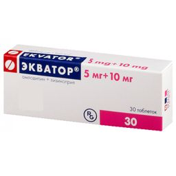 Экватор, 5 мг+10 мг, таблетки, 30 шт.