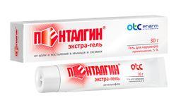 Пенталгин экстра-гель, 5%, гель для наружного применения, 30 г, 1 шт.