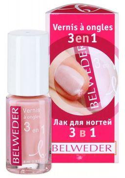 Belweder Лак осветляющий для ногтей 3 в 1, лак для ногтей, 8 мл, 1 шт.