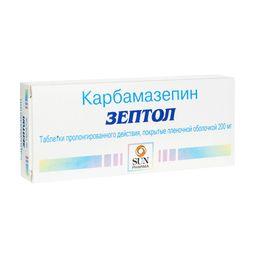 Зептол, 200 мг, таблетки пролонгированного действия, покрытые оболочкой, 30 шт.