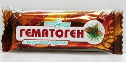 Гематоген «Народный» с кедровым орехом, плитка, 40 г, 1 шт.