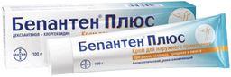 Бепантен плюс, 5%+0.5%, крем для наружного применения, 100 г, 1 шт.