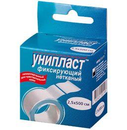 Унипласт пластырь фиксирующий, 1.25х500 см, пластырь медицинский, на основе нетканого материала, 1 шт.