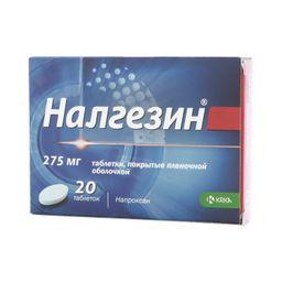 Налгезин, 275 мг, таблетки, покрытые пленочной оболочкой, 20 шт.