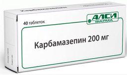 Карбамазепин, 200 мг, таблетки, 40 шт.