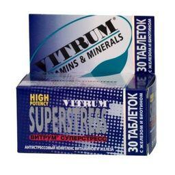 Витрум Суперстресс, таблетки, покрытые пленочной оболочкой, 30 шт.
