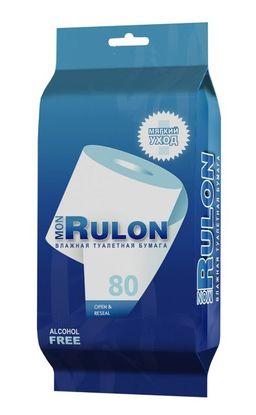Бумага туалетная влажная Mon Rulon, 80 шт.