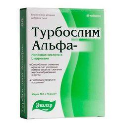 Турбослим Альфа-липоевая кислота и L-карнитин, 1.1 г, таблетки, 60 шт.