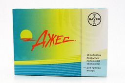 Джес, 3 мг+0.02 мг, таблетки, покрытые пленочной оболочкой, 28 шт.