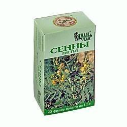 Сенны листья, сырье растительное-порошок, 1.5 г, 20 шт.