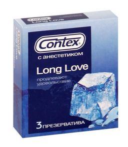 Презервативы Contex Long Love, презерватив, 3 шт.