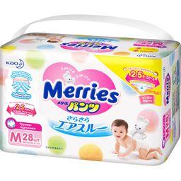 Подгузники-трусики детские Merries, 6-11 кг, р. M, 28 шт.
