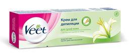 Veet крем для депиляции для сухой кожи, крем, с маслом ши и ароматом лилии, 100 мл, 1 шт.