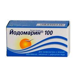 Йодомарин 100, 100 мкг, таблетки, 100 шт.