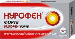 Нурофен форте, 400 мг, таблетки, покрытые оболочкой, 12 шт.